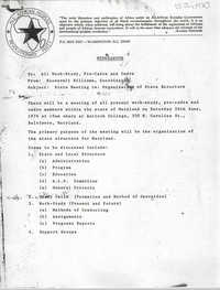 Memorandum from Roosevelt Williams, June 1976