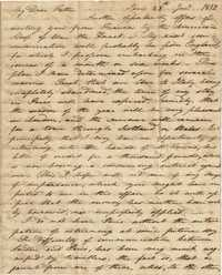 007. Nathaniel Heyward (II) to Father -- January 28, 1812