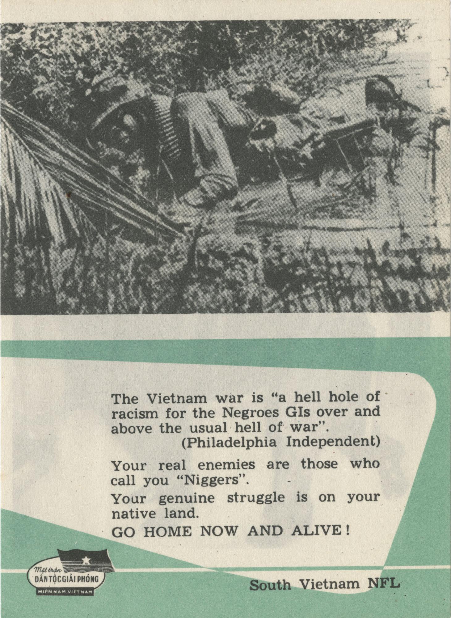 Vietnam War Propaganda Card