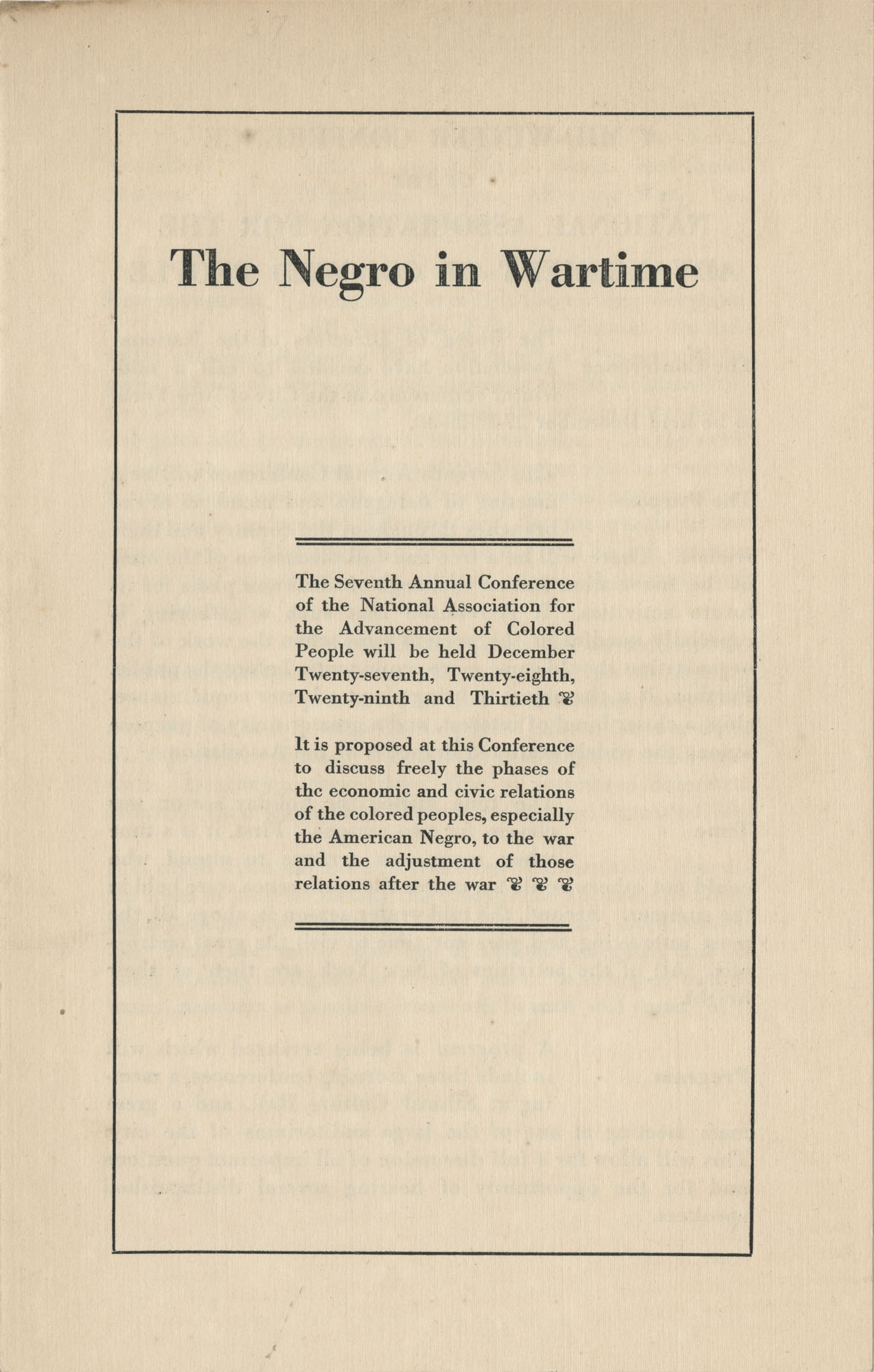 The Negro in Wartime