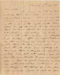 032. Nathaniel Heyward (II) to Mother-in-Law -- July 17, 1819