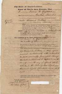 100. Bond of James B. Heyward obligated to Rawlins Lowndes -- March 27th, 1845