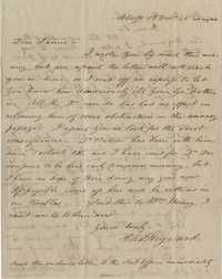 105. Charles Heyward to James B. Heyward -- December 14, 1845