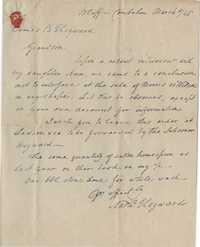 104. Nathaniel Heyward to James B. Heyward -- March 8, 1845