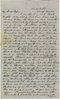 Letter from John R. Beaty to his wife Melvina, 1861