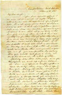 Letter from John R. Beaty to his wife Melvina, February 18, 1861