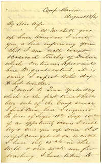 Letter from John R. Beaty to his wife Melvina, August 1861