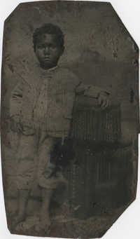 Tintype of an Unidentified African American Boy