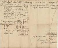 William Vernon Bill of Sale