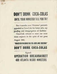 Coca-Cola Internal Correspondence and Two Handbills Calling for the Boycott of Coca-Cola