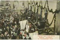 Balfour reception in Gymnasium Yard / פגישת בלפור בחצר הגימנסיה