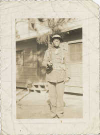 Photo of an African American Soldier