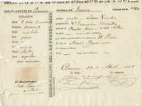 Slave Registry Form, Puerto Rico, April 13, 1861
