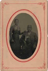 African American Woman and Union Army Solider