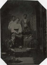 Chess Club Tintype