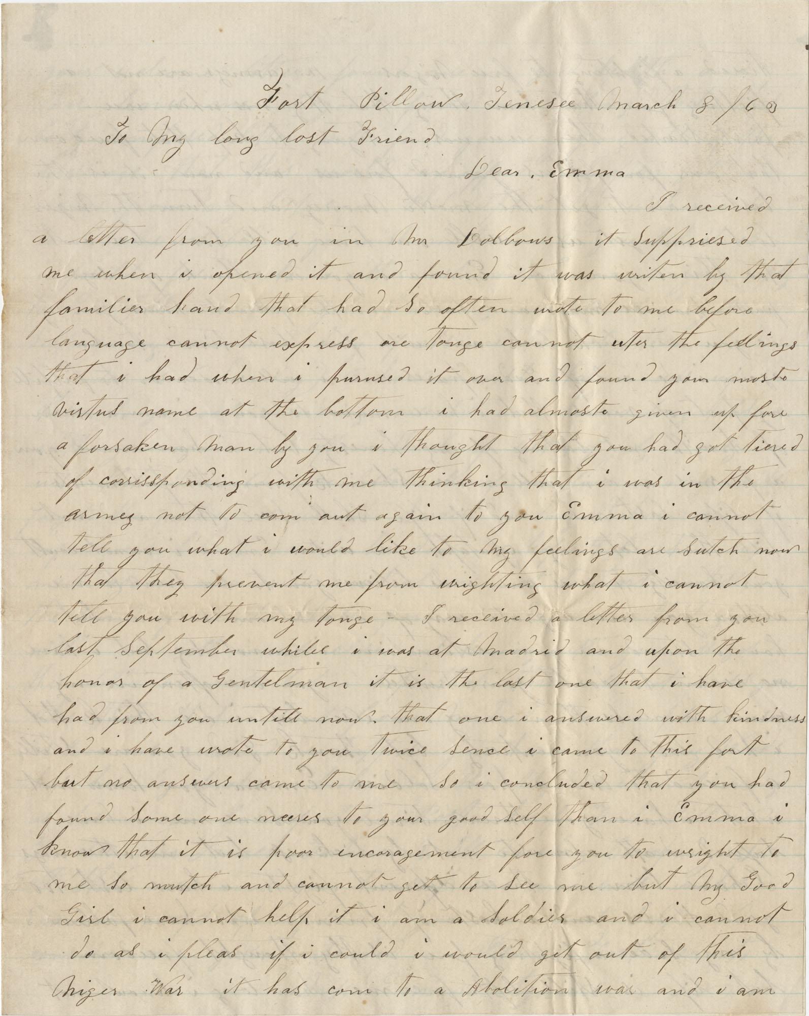 James Fortiner Letter