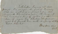 Promissory Note on the Hiring of a Slave