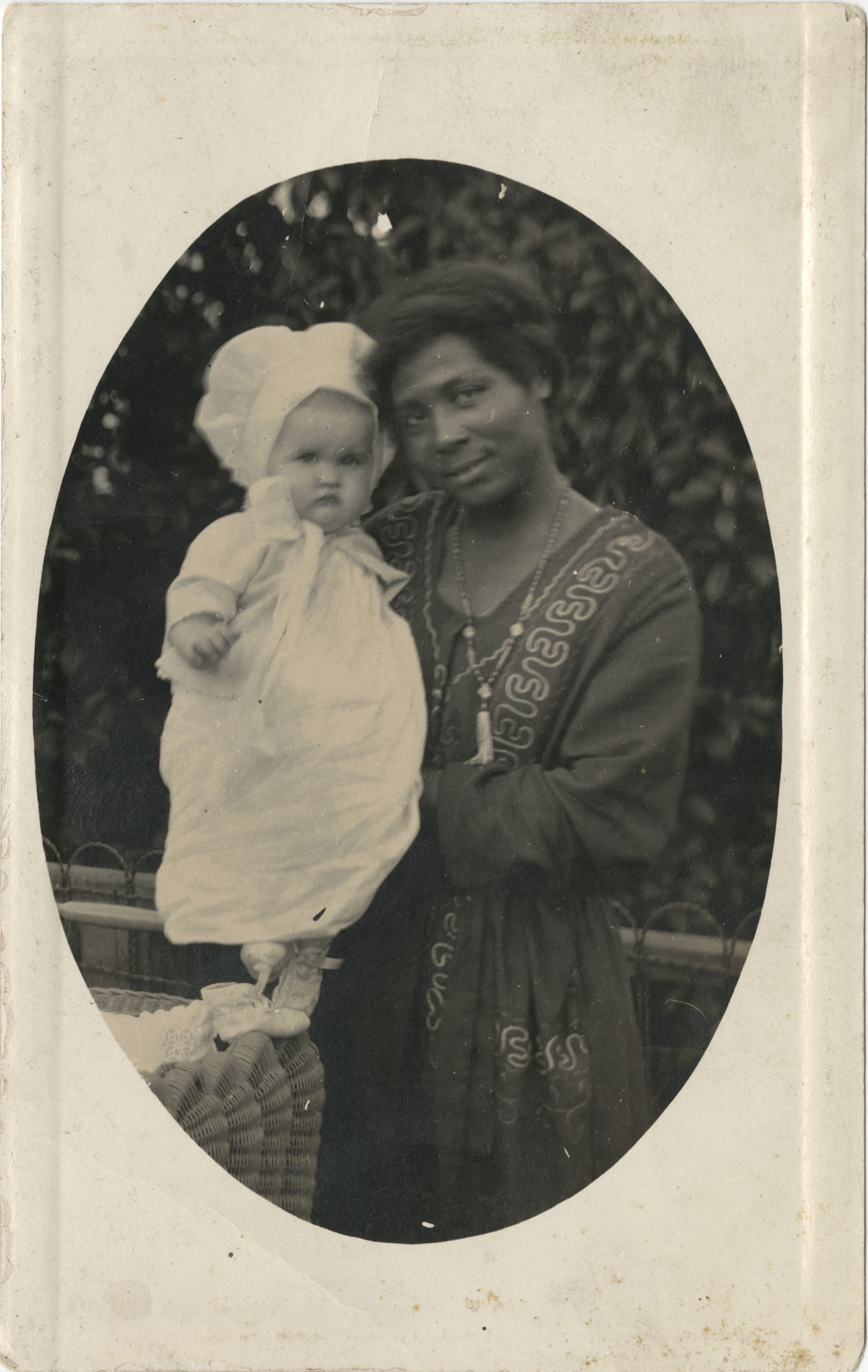 Postcard Photo of an African American Woman with Infant