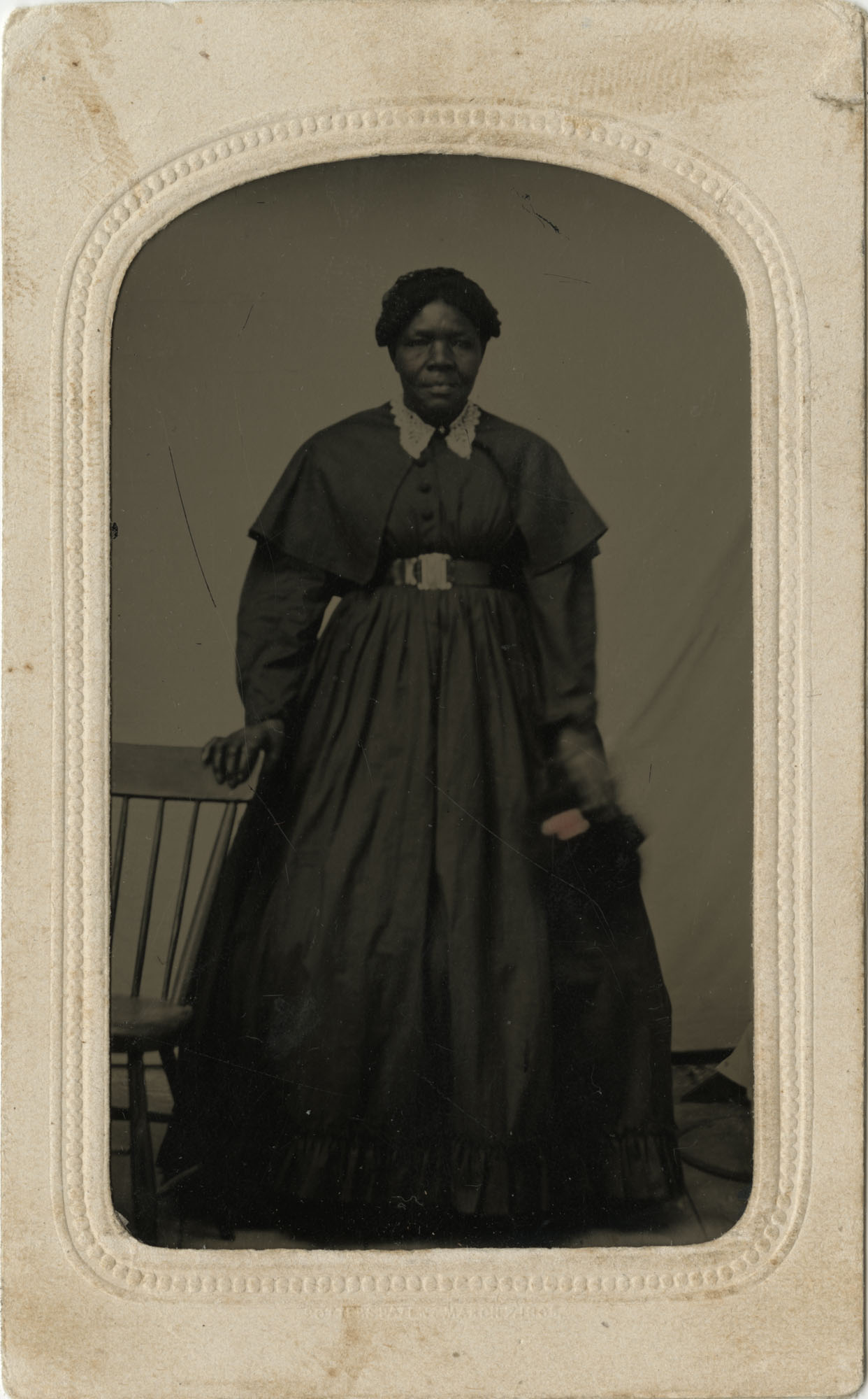 Tintype of an Unidentified African American Woman