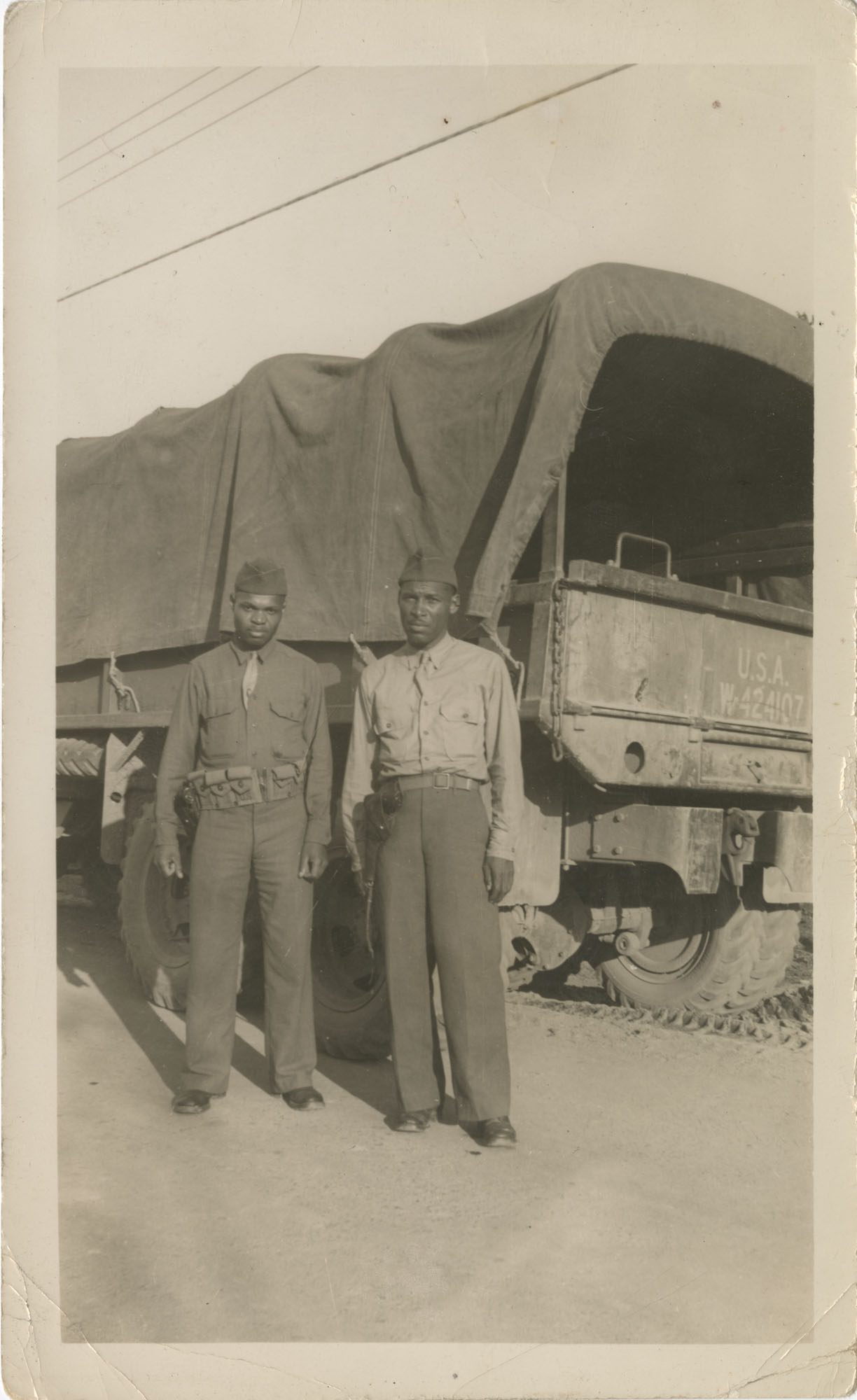 Photo of Two African American Soldiers