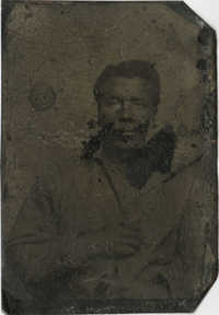 Tintype of an Unidentified African American Man