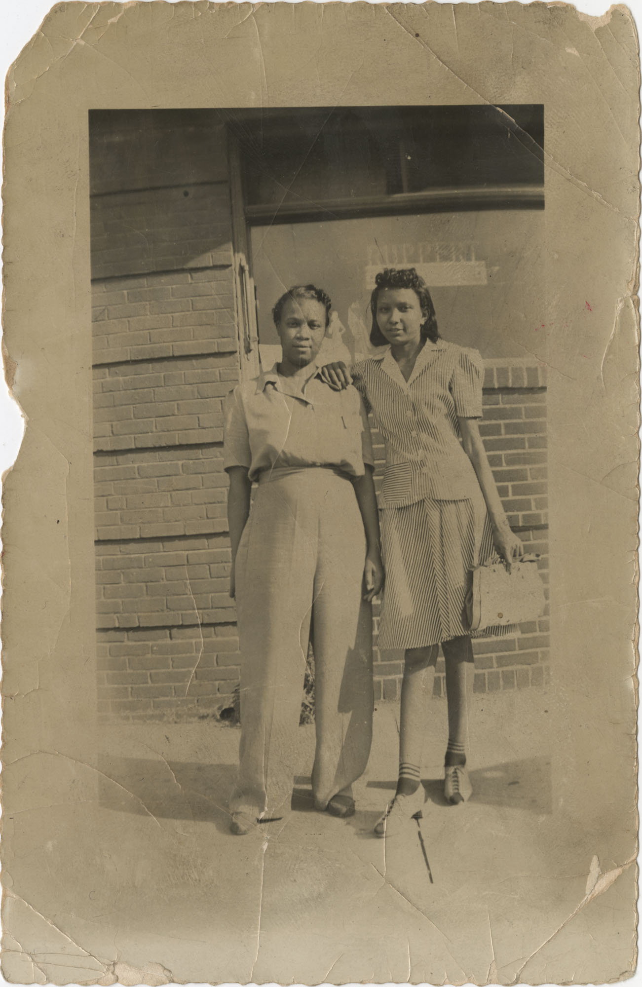 Paper Photo of Two African American Women