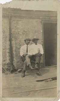 Photo of Two Unidentified African American Men