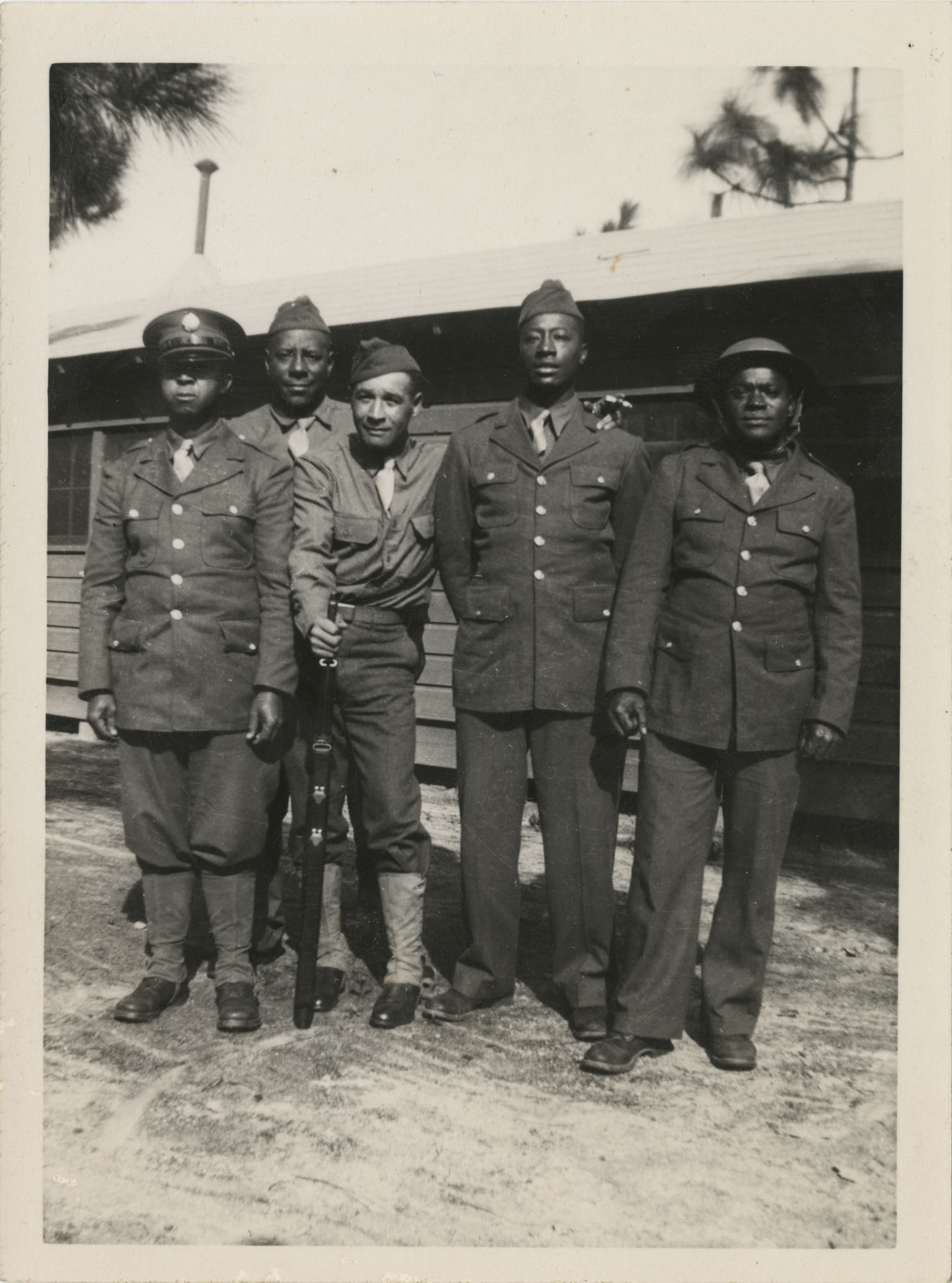 Photo of Five African American Soldiers