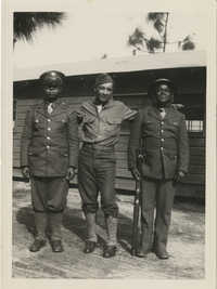 Photo of Three African American Soldiers