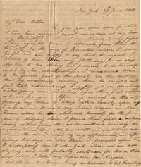 005. Nathaniel Heyward (II) to Mother -- June 29, 1810