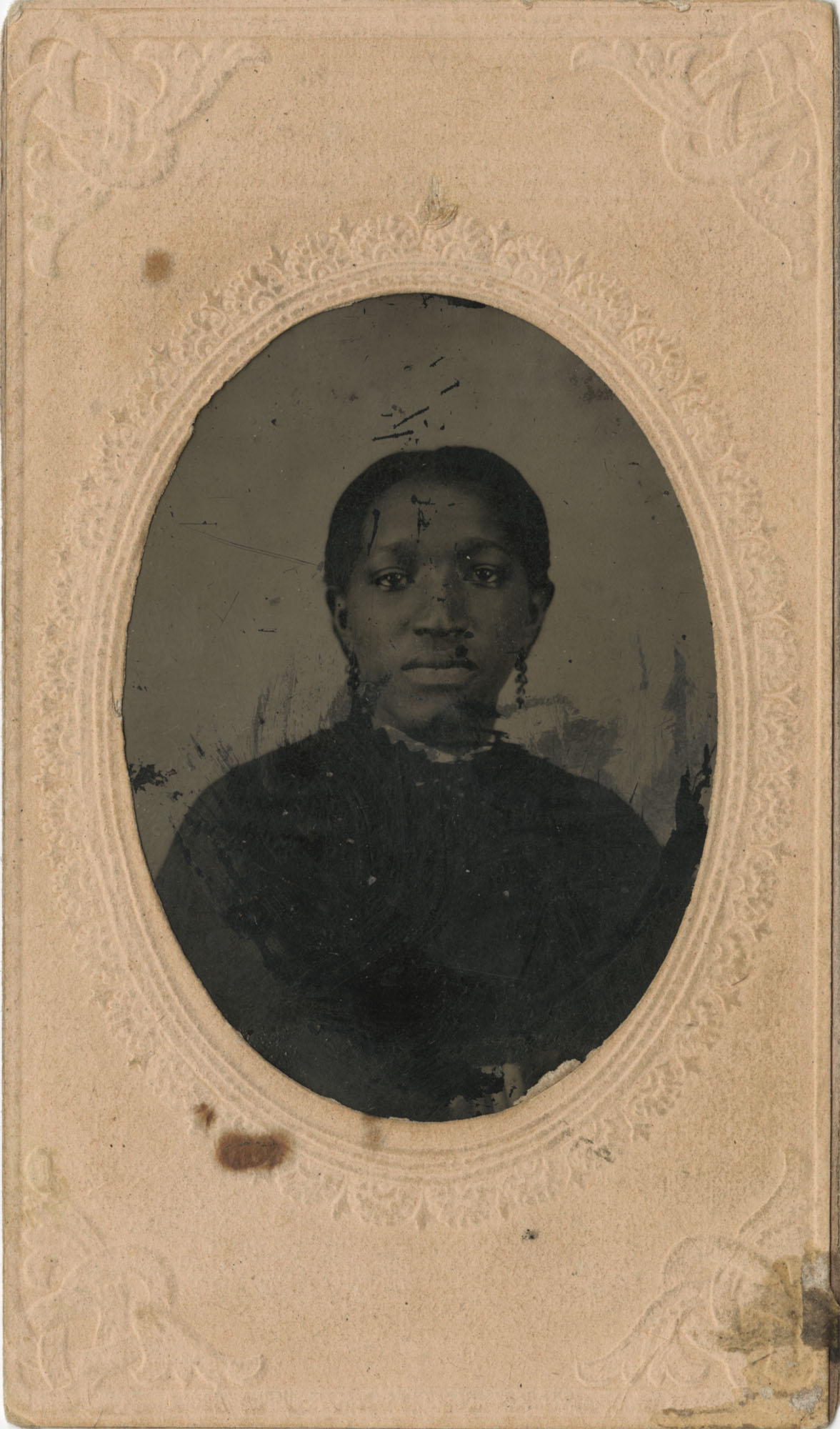 Tintype in Softcase of African American Girl