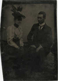 Tintype of Unidentified African American Woman and Man