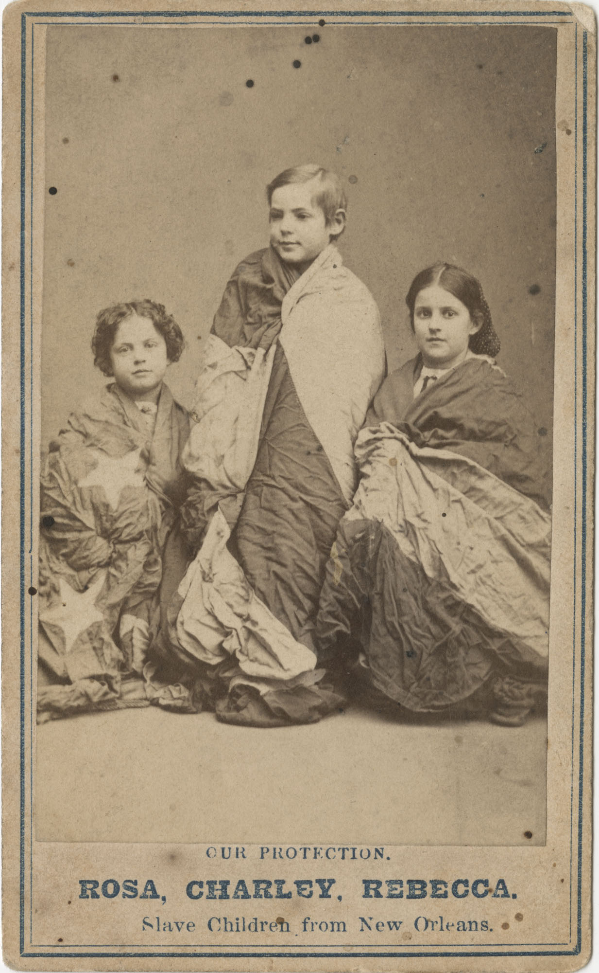 Our Protection. Rosa, Charley, Rebecca. Slave Children from New Orleans.