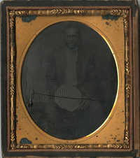 Cased Tintype of an Unidentified African American Man