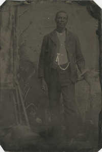 Tintype of an African American Man