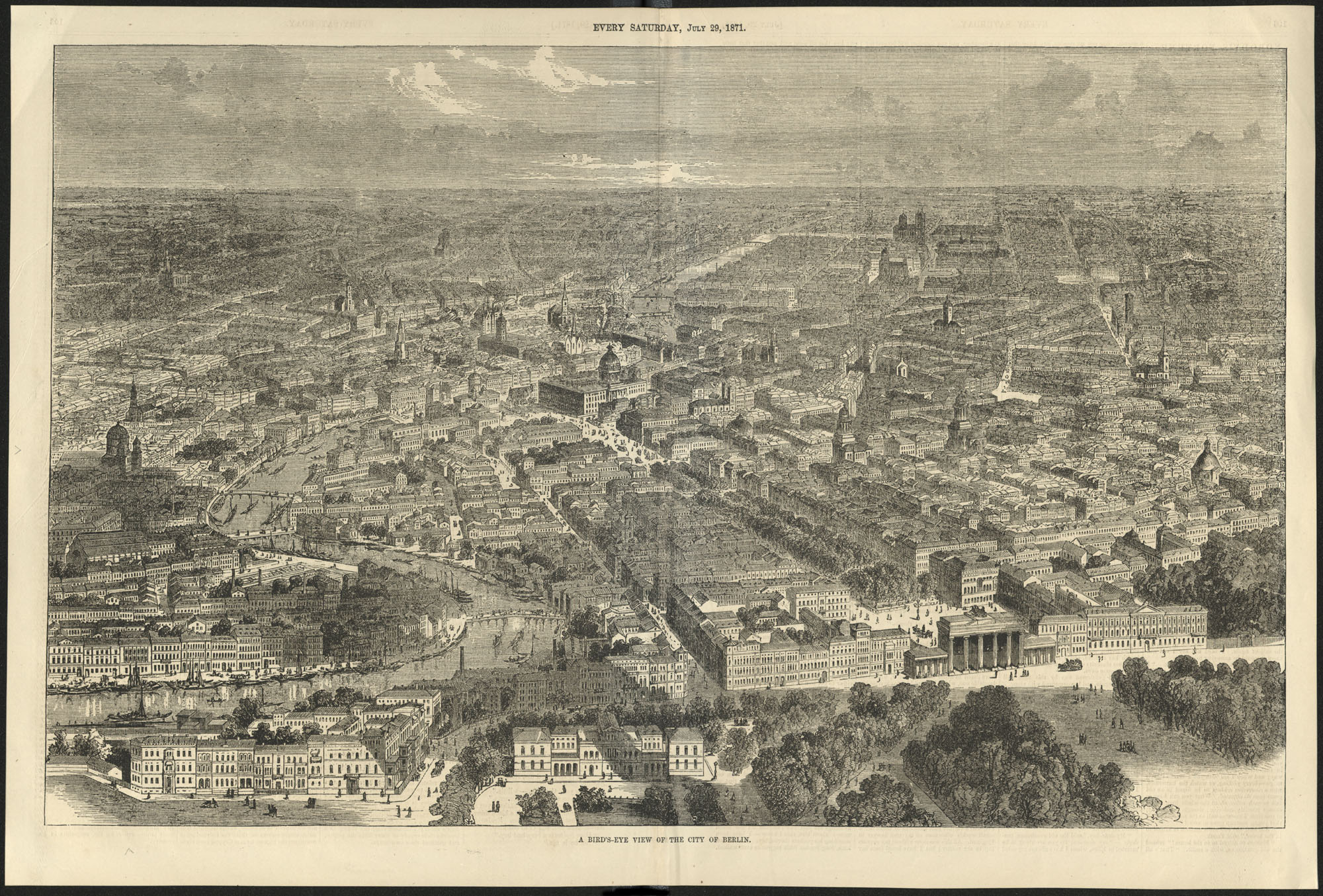 A bird's-eye view of the city of Berlin