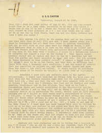 Letter from Armant Legendre, August 29, 1945