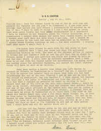 Letter from Armant Legendre, August 20, 1945