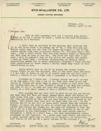 Letter from Armant Legendre, April 14, 1947