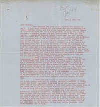 Letter from Gertrude Sanford Legendre, April 18, 1944