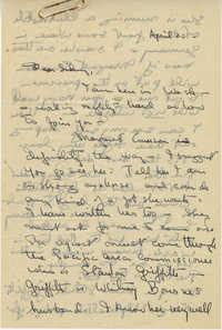 Letter 1 from Gertrude Sanford Legendre, April 20, 1945