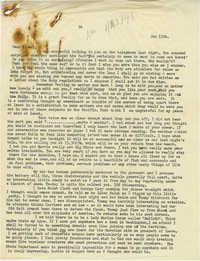 Letter from Gertrude Sanford Legendre, January 13, 1943
