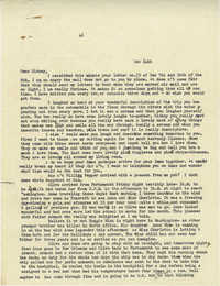 Letter from Gertrude Sanford Legendre, December 14, 1942