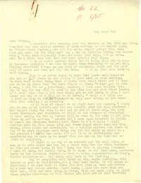 Letter from Gertrude Sanford Legendre, May 21, 1943