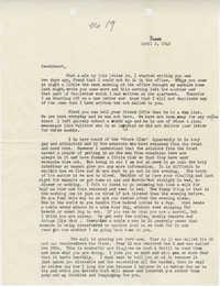Letter from Sidney Jennings Legendre, April 1, 1943