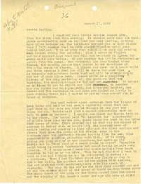 Letter 1 from Sidney Jennings Legendre, August 17, 1943
