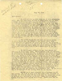 Letter 1 from Sidney Jennings Legendre, July 30, 1943
