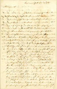 Letter from [John] Peter [Gabriel] Muhlenberg to Nathanael Greene