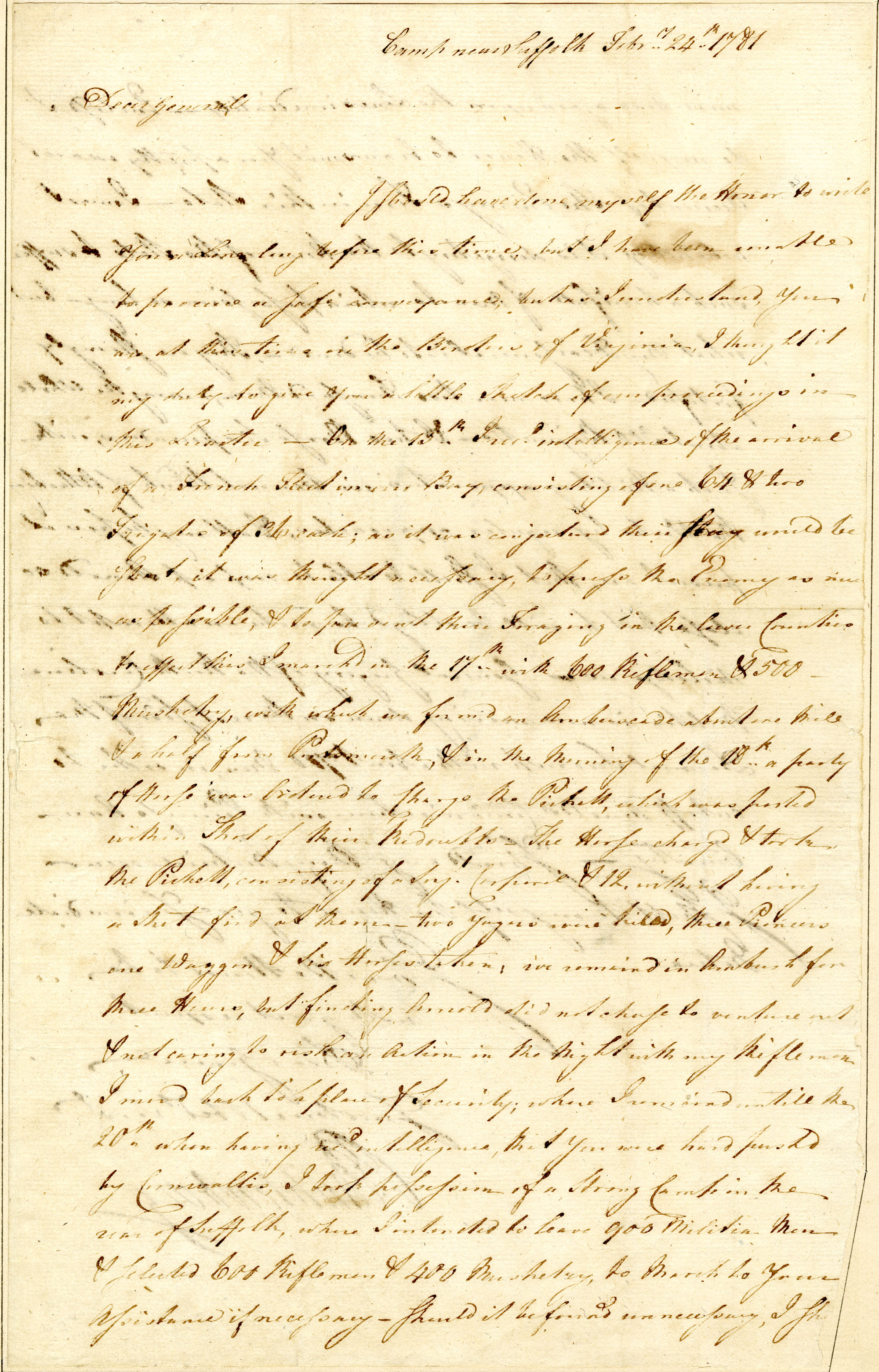 Letter from [John] Peter [Gabriel] Muhlenberg to Nathanael Greene