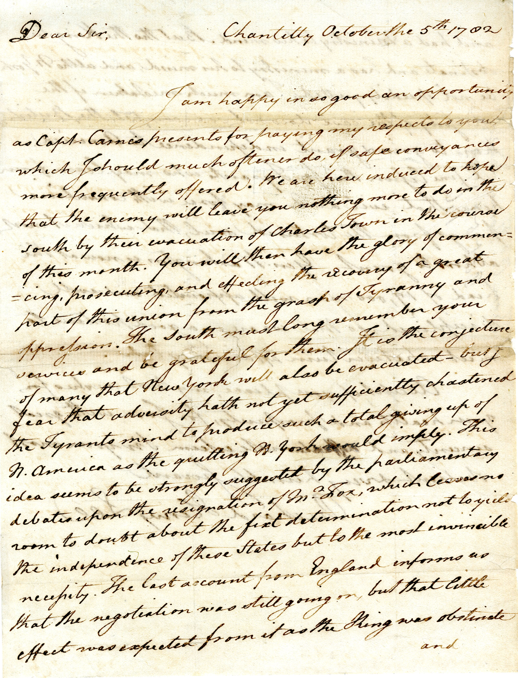 Letter from Richard Henry Lee to [Nathanael Greene]